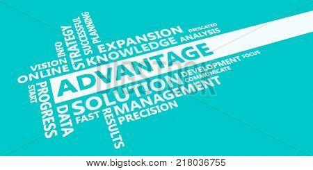 Advantage Presentation Background in Blue and White