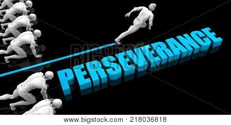 Superior Perseverance Concept with Competitive Advantage 3d Render poster