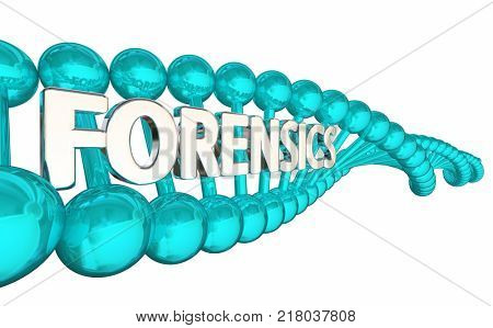 DNA Forensics Research Crime Investigation Evidence 3d Illustration
