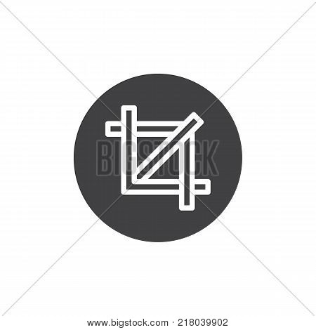 Crop icon vector, filled flat sign, solid pictogram isolated on white. Resize symbol, logo illustration.