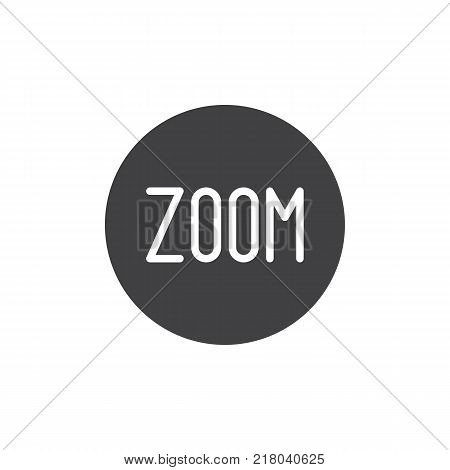 Zoom mode button icon vector, filled flat sign, solid pictogram isolated on white. Manual camera setting symbol, logo illustration.