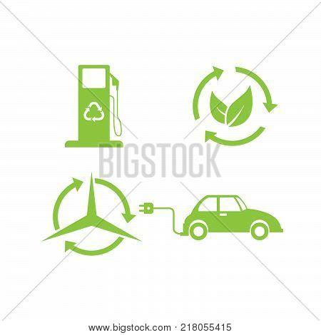 Bio and ecology set icons in cartoon design. Collection of bio and ecology vector symbol stock illustration