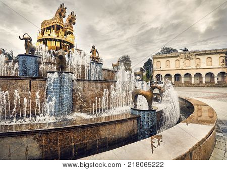 Kolkhida Fountain In Kutaisi