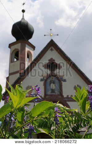St Johann Church at Santa Maddalena. Val Di Funes in the italian Dolomites. Bolzano, Italy