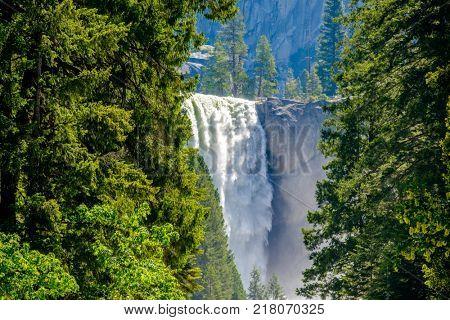 Vernal Falls in Yosemite National Park. California, USA.