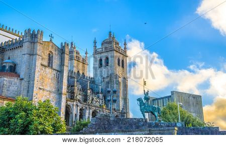 Historic Roman Catholic church located in the historical centre of the city of Porto in Portugal