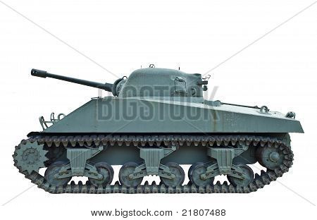 Profile Of Wwii Tank