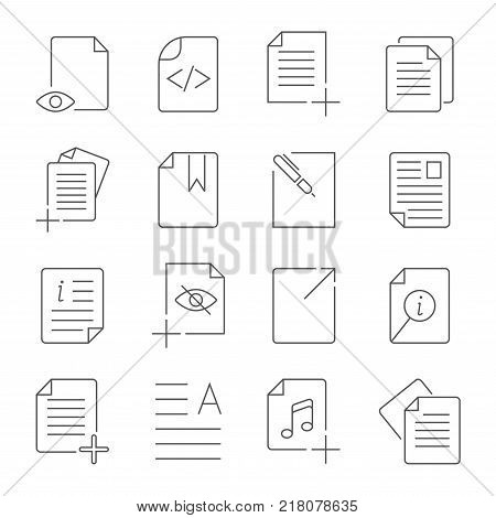 Simple Set of Document Flow Management Vector Line Icons. Contains such Icons as Bureaucracy, Batch Processing, Accept, Decline Document and more. Editable Stroke