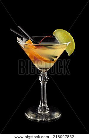 Daiquiri Cocktail on a black background alcoholic