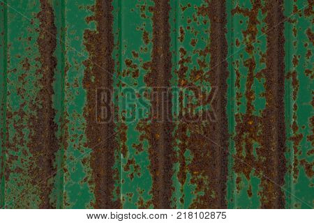 Abstractbackground and texture for green zinc green rust background
