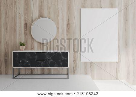 White Living Room, Poster, Sofa, Table Toned