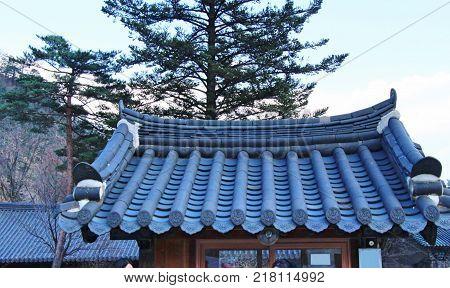 Sinheungsa temple South Korea with the nature