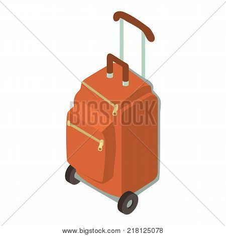 Suitcase wheel icon. Isometric illustration of suitcase wheel vector icon for web