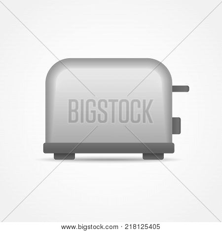 Toaster isolated on white background. Vector illustration.
