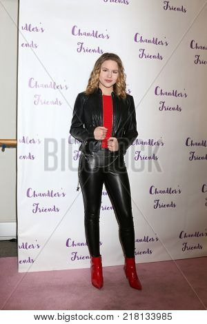 LOS ANGELES - DEC 10:  Isabella Acres at the Chandler's Friends Toy Drive & Wrapping Party  at Los Angeles Ballet Academy on December 10, 2017 in Los Angeles, CA