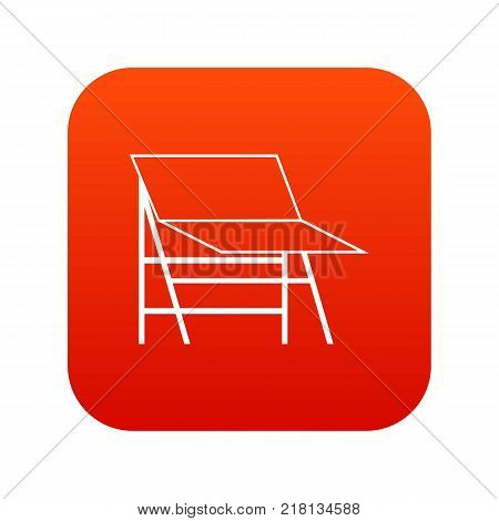 Blank portable screen icon digital red for any design isolated on white vector illustration