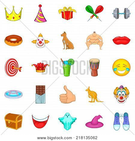Spectacle icons set. Cartoon set of 25 spectacle vector icons for web isolated on white background