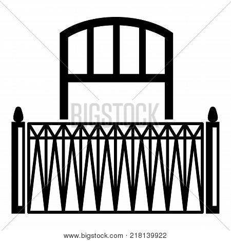 Lattice balcony icon. Simple illustration of lattice balcony vector icon for web
