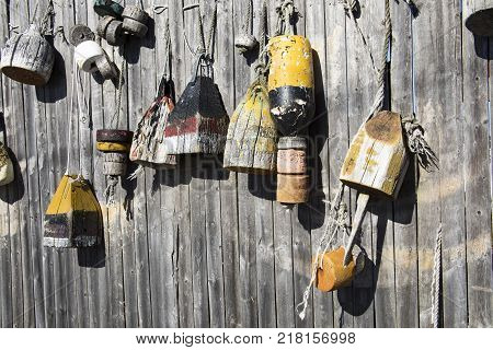 Wooden Fishing Buoys
