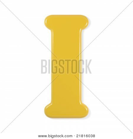 yellow font - letter i