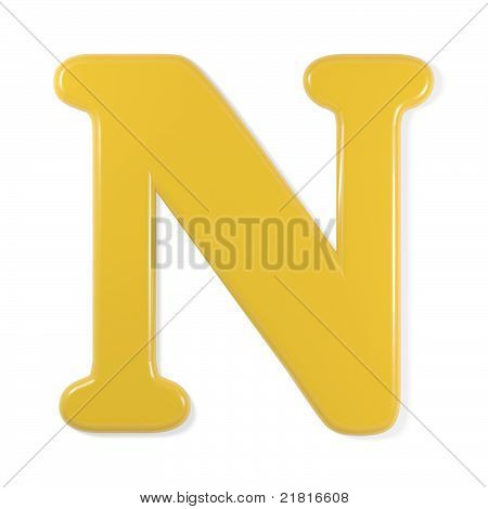 yellow font - letter n