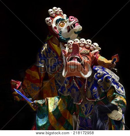 Traditional Buddhist sacred dance Cham, Dance in Lama Masks is a high tantric initiation.