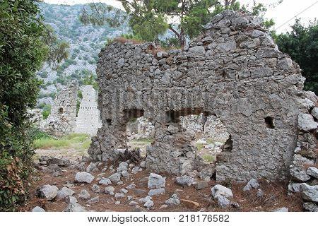 North Necropolis. Ruins of ancient city Olympos in Lycia. Antalya Province. Turkey