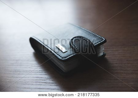 wallet for credit cards on the table cardholder