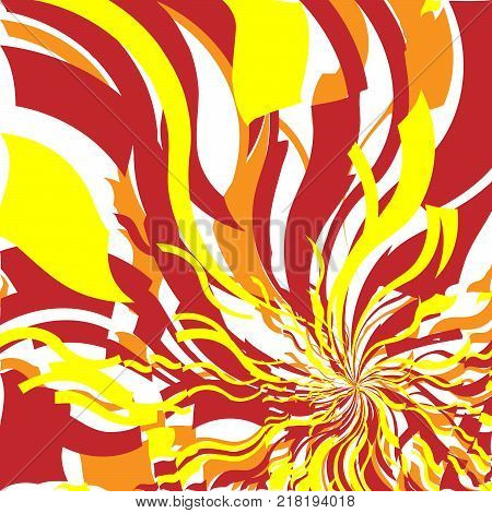 Bright Red and Orange Fire Abstract Background, Flame Pattern, Stylized Fire, Fire Sign Background, Sunlight Abstract Orange Wave Background