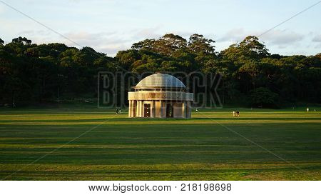 Sydney Australia - November 13 2017: Federation Pavilion which houses the Commonwealth Stone in Centennial Park. Federation Pavilion in built in 1988 at the place of proclamation of the Commonwealth of Australia.