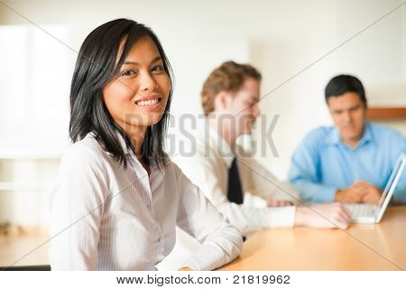 Attractive Asian Businesswoman Meeting