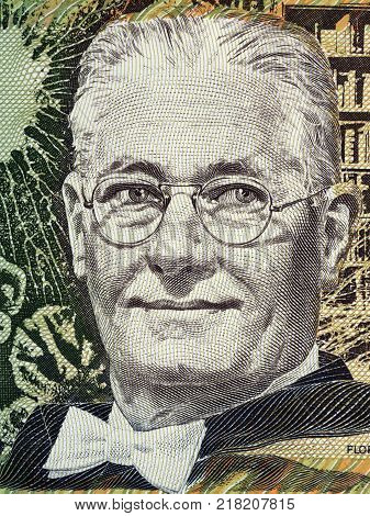 Howard Florey portrait from Australian money - Dollars