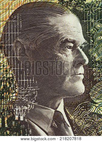 Ian Clunies Ross portrait from Australian money