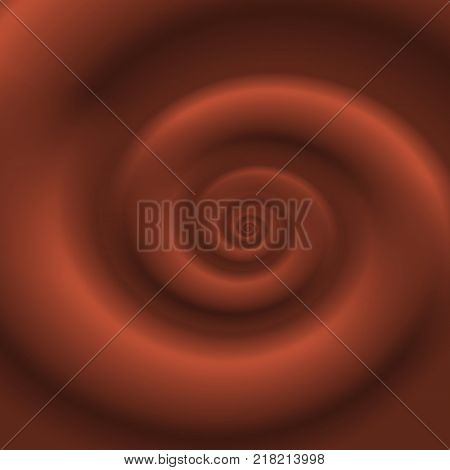 Milk chocolate swirl background. Melted chocolate syrup, dessert icing concept. Graphic design element for flyer, poster, advertisement. Vector illustration.