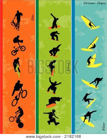 Vector Of Extreme Sports Shapes