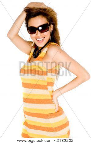 Woman In Summer Dress