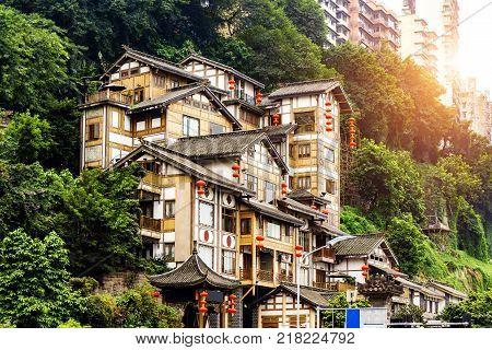 Classical Chinese architecture in Chongqing: Hong Yadong.