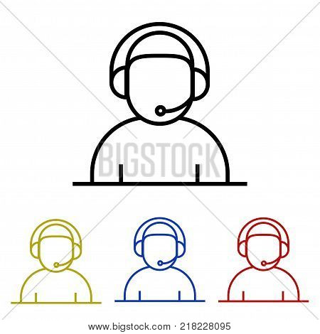 The operator or technical support icon in four colors.