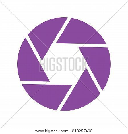 Shutter closeup vector icon, great for photographer logo. Illustrated vector.