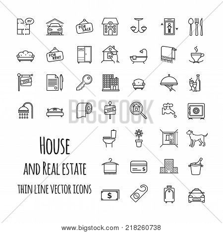 House and real estate vector icons set for your design