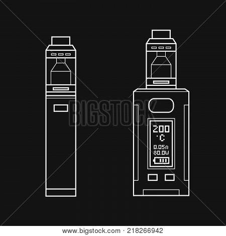 Vector Vaporizer Atomizer Device Illustration.