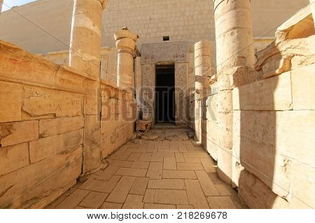 Hatchepsut Temple ruins in Luxor near Nile river. Egypt