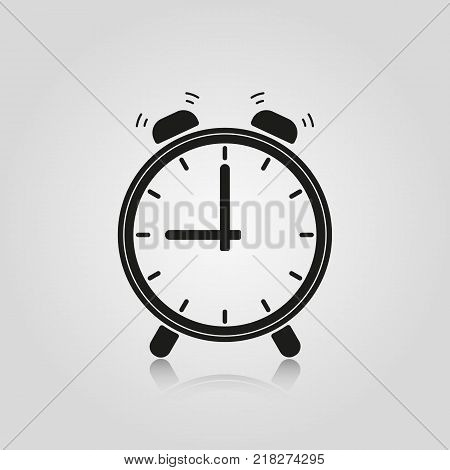 Alarm clock icon isolated on white background. Stock - Vector illustration for your design and business