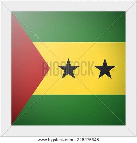 African country flag collection with photo of Sao Tome and Principe flag , vector , illustration
