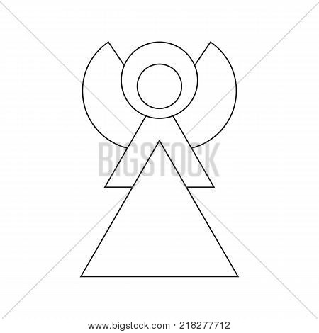 Angel Outline Icon Symbol Design. Vector illustration of Angel silhouette isolated on white background. Simple shape style. Flat design. Can be use for decoration gifts greetings holidays etc.