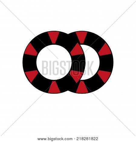 Chips of las vegas casino and game theme Isolated design Vector illustration