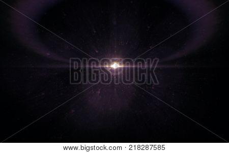Abstract image of sun burst lighting flare. vintage shinny effect