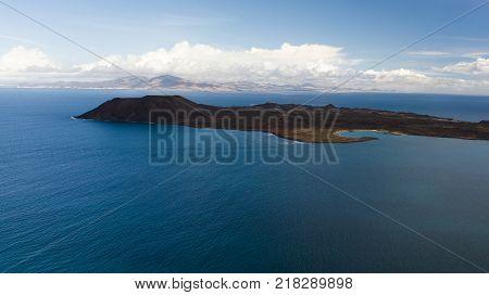 aerial view of lobos island fuerteventura canary islands