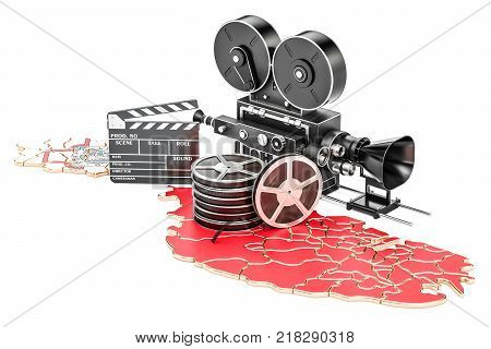 Malta cinematography film industry concept. 3D rendering isolated on white background