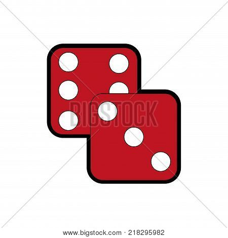 Dice of chance gambling and game theme Isolated design Vector illustration